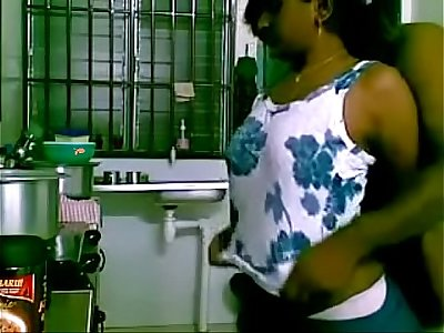 See maid banged by boss in the kitchen