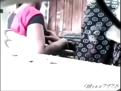 Indian computer teacher boobs pressing of student